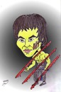 Cartoon: bruce lee (small) by Hossein Kazem tagged bruce,lee