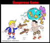 Cartoon: dangerous game (small) by Hossein Kazem tagged dangerous,game