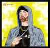 Cartoon: eminem (small) by Hossein Kazem tagged eminem