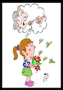 Cartoon: Flower seller girl (small) by Hossein Kazem tagged flower,seller,girl