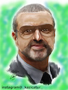 Cartoon: George Michael (small) by Hossein Kazem tagged george,michael
