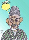 Cartoon: Hamid Karzai (small) by Hossein Kazem tagged hamid,karzai