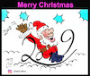 Cartoon: merry christmas (small) by Hossein Kazem tagged merry,christmas