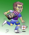 Cartoon: messi and xavi (small) by Hossein Kazem tagged messi,and,xavi
