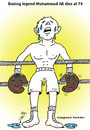Cartoon: muhammad ali (small) by Hossein Kazem tagged muhammad,ali