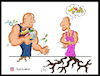 Cartoon: no doping (small) by Hossein Kazem tagged no,doping