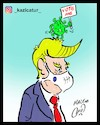 Cartoon: trump and virus (small) by Hossein Kazem tagged trump,and,virus