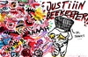 Cartoon: Justin Beekeeper (small) by parentheses tagged justin,beekeeper,bieber,fans