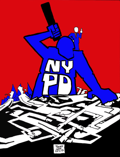 Cartoon: OCCUPY WALL STREET (medium) by DaD O Matic tagged occupy,wall,st,nypd,pepper,spray,protest
