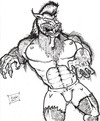 Cartoon: Lycanthropy (small) by DaD O Matic tagged halloween,werewolves,fullmoon,vampires,witchs