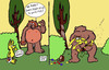 Cartoon: What the Charmin Bear uses. (small) by DaD O Matic tagged bear,rabbit,forest,poop,charmin,fur