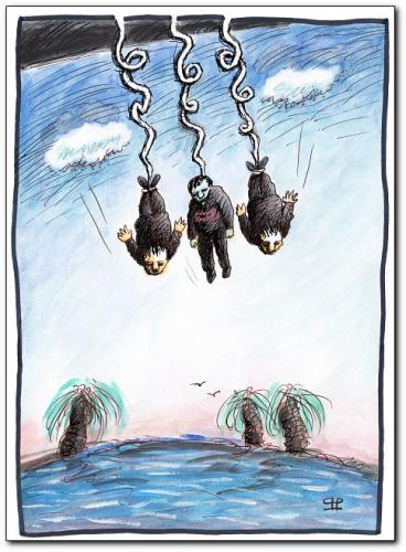 Cartoon: bungee jumping (medium) by penapai tagged sport,,bungeejumping,freizeit,spaß,nervenkitzel