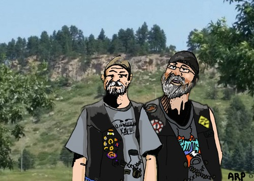 Cartoon: Brothers (medium) by tonyp tagged arp,brothers,in,mountains,arptoons