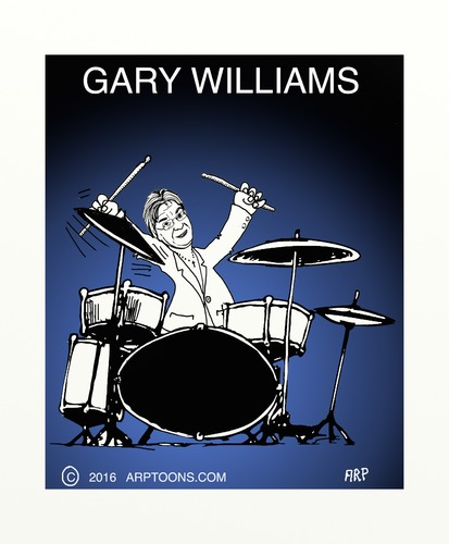 Cartoon: Drummer poster (medium) by tonyp tagged arp,drums,musicians