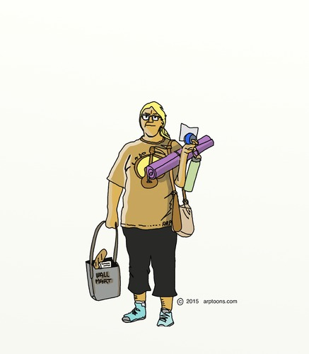 Cartoon: Home from exercising (medium) by tonyp tagged arp,exercising,girl,colleen