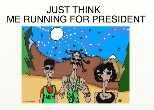 Cartoon: JUST THINK (medium) by tonyp tagged arp,president,elections,vote,snoop,doggy,dog,arptoons