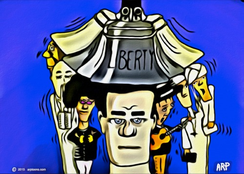 Cartoon: Liberty Bell (medium) by tonyp tagged arptoons,help,safety,bell,liberty,arp
