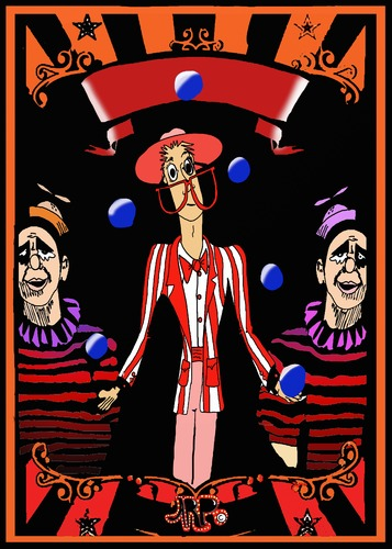 Cartoon: Poster blank (medium) by tonyp tagged arp,circus,tall,man,poster