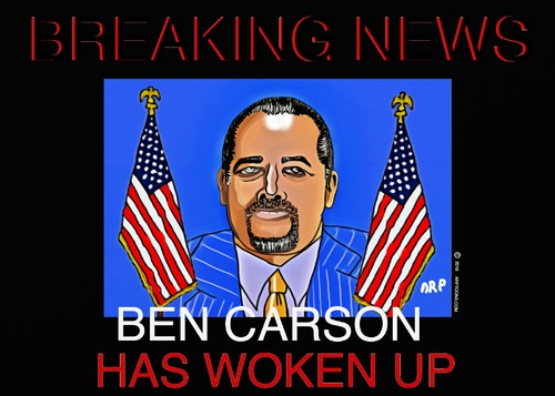 Cartoon: WOKE UP (medium) by tonyp tagged arp,ben,carson,arptoons,republican,in,the,usa