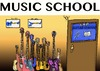 Cartoon: MUSIC SCHOOL TODAY (small) by tonyp tagged arp,guitars,lessons,school,guitar