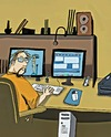 Cartoon: My Desk and me drawing (small) by tonyp tagged arp,tonyp,arptoons,wacom,draw,drawing,artist,tall,dog