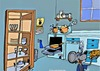 Cartoon: WHEN YOUR GONE (small) by tonyp tagged arp,kitchen,mouse,mice,arptoons