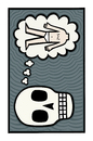 Cartoon: I remember (small) by baggelboy tagged think,thought,skull