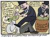 Cartoon: This week in politics (small) by baggelboy tagged spoon,fed,lies,pigs
