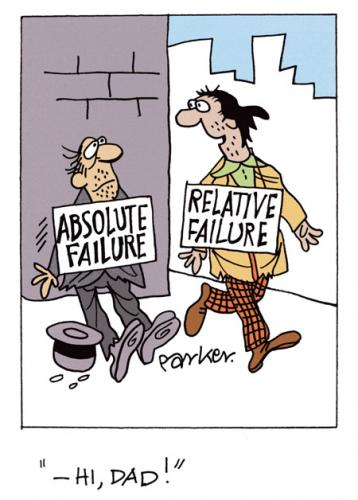 Cartoon: Father and son. (medium) by daveparker tagged beggars,father,son,failures,