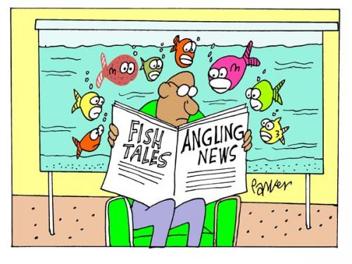 Cartoon: Fishy (medium) by daveparker tagged fish,tank,nosey