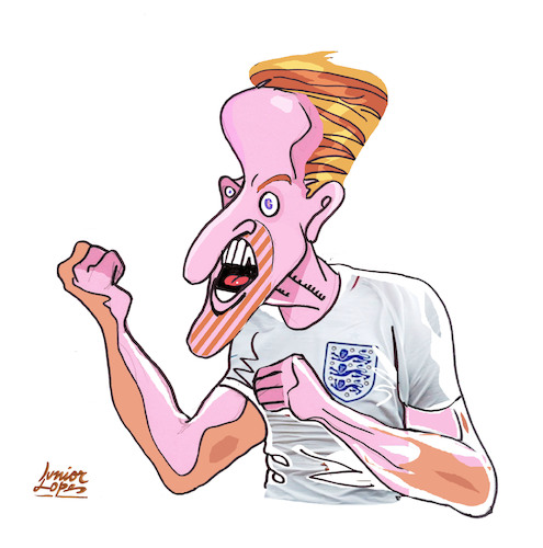 Cartoon: Harry Kane (medium) by juniorlopes tagged harry,kane,harry,kane