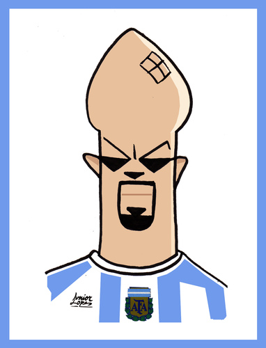 Cartoon: Veron (medium) by juniorlopes tagged world,cup,2010