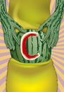 Cartoon: C section (small) by LeeFelo tagged section,caesarean,green,watermelon,abdomen,incision,childbirth,slice