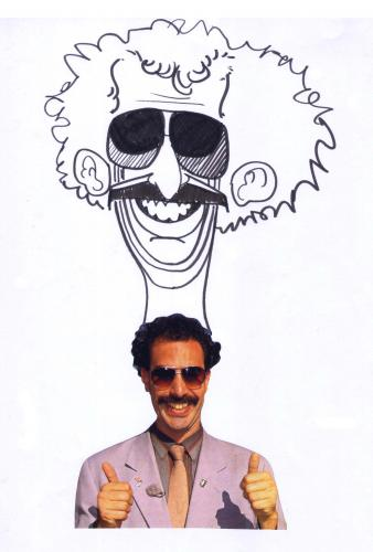 Cartoon: Borat (medium) by Marcelo Rampazzo tagged humor
