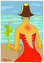 Cartoon: Caliente (small) by Marcelo Rampazzo tagged caliente