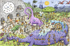 Cartoon: CaveWorld (small) by Marcelo Rampazzo tagged puzzle,caveman,dinosaurs