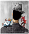 Cartoon: Face of Evil (small) by Marcelo Rampazzo tagged evil angel bad