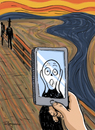 Cartoon: Smile (small) by Marcelo Rampazzo tagged munch,screen,art,history,selfie,picture
