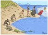 Cartoon: The origen of corruption (small) by Marcelo Rampazzo tagged corruption,evolution,money