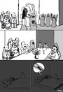Cartoon: no title (small) by Florian France tagged interkonfessionelle,heirat,marriage,interconfessionnel