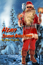 Cartoon: heavy season greetings (small) by neudecker tagged season,greeting,card,santa,claus,nikolaus,christmas