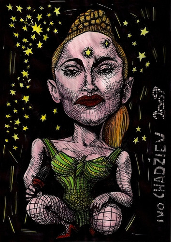 Cartoon: pri - madonna (medium) by ivo tagged wau