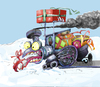 Cartoon: a Christmas train 2 (small) by ivo tagged wow