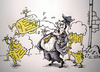 Cartoon: attack (small) by ivo tagged wau