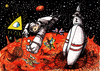 Cartoon: cosmos... (small) by ivo tagged wau