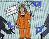 Cartoon: Alleine im Regen (small) by RachelGold tagged eu,sparkurs,merkel