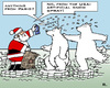 Cartoon: Climate-Placebo (small) by RachelGold tagged paris,climate,summit,change,warming,icebear,santa,spray,placebo