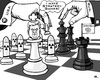 Cartoon: Dangerous Strategy Games (small) by RachelGold tagged ukraine,poroshenko,chess,strategy,game,usa,rus,nuclear,weapons,crimea