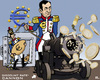 Cartoon: Euro-Artillery (small) by RachelGold tagged euro,ecb,draghi,discount,rate