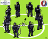 Cartoon: EURO 2016 in France (small) by RachelGold tagged sokker,euro,fifa,2016,france,paris,police,security,terror